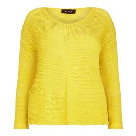 BEIGE LABEL COTTON lemon Knitted Tunic - Plus Size Collection