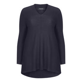 BEIGE LABEL MERINO WOOL KNITTED TUNIC BLACK - Plus Size Collection