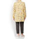 BEIGE LABEL LINEN EMBROIDERED FLORAL JACKET YELLOW