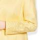 BEIGE LABEL LINEN JACKET WITH BRODERIE ANGLAIS BORDER YELLOW