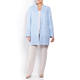 BEIGE LABEL LINEN JACKET WITH BRODERIE ANGLAIS BORDER PALE BLUE