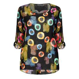 BEIGE LABEL MULTICOLOUR PRINT TUNIC - Plus Size Collection