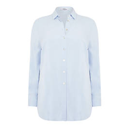 BEIGE LABEL SHIRT PALE BLUE - Plus Size Collection