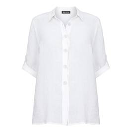 BEIGE LABEL LINEN GAUZE SHIRT IVORY - Plus Size Collection