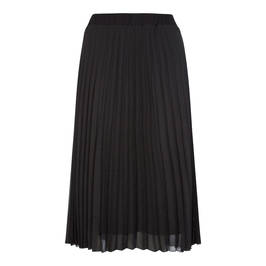 BEIGE PLEATED MIDI SKIRT BLACK - Plus Size Collection
