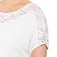 BEIGE TOP WITH LACE INSERT CREAM