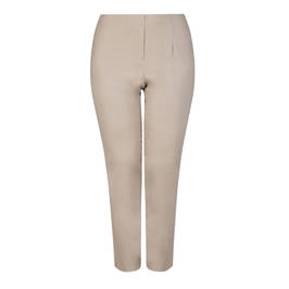 BEIGE LABEL PULL ON TECHNOSTRETCH TROUSER CAMEL - Plus Size Collection