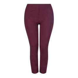 BEIGE LABEL PULL ON TECHNOSTRETCH TROUSER BURGUNDY - Plus Size Collection