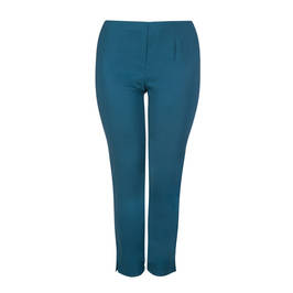 BEIGE LABEL PULL ON TECHNOSTRETCH TROUSER TEAL - Plus Size Collection