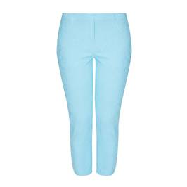 BEIGE LABEL JACQUARD PULL ON TROUSER TURQUOISE - Plus Size Collection