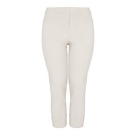 BEIGE LABEL TECHNOSTRETCH TROUSER TURN UP SAND - Plus Size Collection