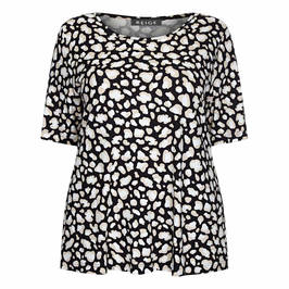 BEIGE LABEL TUNIC LEOPARD PRINT - Plus Size Collection