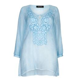 BEIGE label powder blue embroidered Tunic - Plus Size Collection