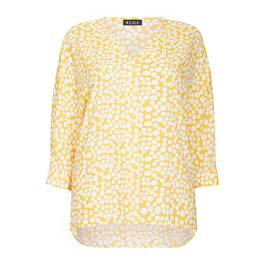 BEIGE LABEL YELLOW PRINT TUNIC - Plus Size Collection