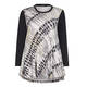 Beige abstract print Tunic with black sleeves