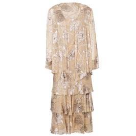 Capri gold silk devoré dress and jacket - Plus Size Collection