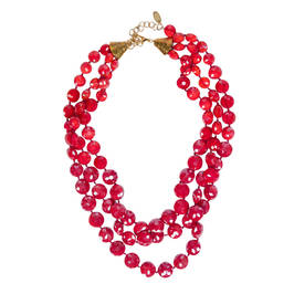 CIMP RED MULTI-STRAND NECKLACE - Plus Size Collection