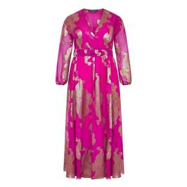 MARINA RINALDI SILK VOILE DRESS FUCHSIA - Plus Size Collection