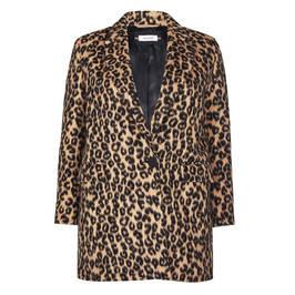 ELENA MIRO LEOPARD PRINT SHORT COAT - Plus Size Collection