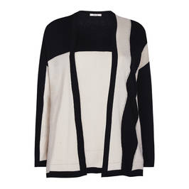 ELENA MIRO KNITTED TWINSET BLACK AND CREAM - Plus Size Collection
