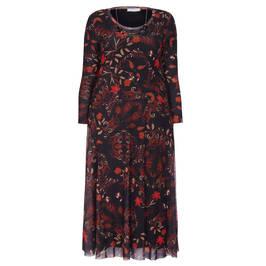 ELENA MIRO PRINT DRESS CHOCOLATE  - Plus Size Collection