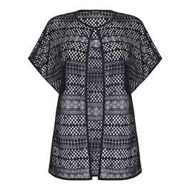 ELENA MIRO black lace GILET - Plus Size Collection