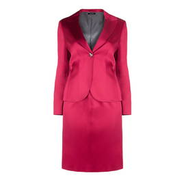 ELENA MIRO SATIN JACKET AND SKIRT SUIT - Plus Size Collection