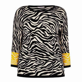 ELENA MIRO ZEBRA PRINT KNITTED TUNIC - Plus Size Collection