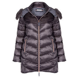 ELENA MIRO PUFFER GUNMETAL - Plus Size Collection