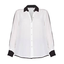 ELENA MIRO GEORGETTE SHIRT BLACK AND WHITE - Plus Size Collection