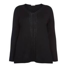 ELENA MIRO WOOL BLEND V-NECK SWEATER BLACK - Plus Size Collection