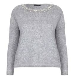ELENA MIRO PEARL EMBELLISHED SWEATER - Plus Size Collection