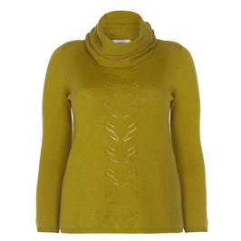 ELENA MIRO FINE KNIT SWEATER CHARTREUSE - Plus Size Collection