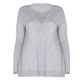 ELENA MIRO SWEATER WITH STUD EMBELLISHMENT GREY - Plus Size Collection