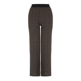 ELENA MIRO HERRINGBONE WIDE-LEG TROUSER - Plus Size Collection