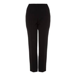 ELENA MIRO BLACK FRONT CREASE FRONT FASTEN TROUSER - Plus Size Collection