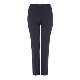 ELENA MIRO FRONT CREASE NAVY TROUSERS - Plus Size Collection