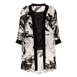 ELENA MIRO BLACK AND WHITE TWINSET - Plus Size Collection