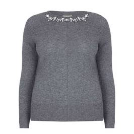 ELENA MIRO CASHMERE BLEND JEWELLED SWEATER - Plus Size Collection