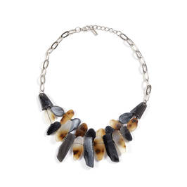 TORTOISE SHELL PEBBLE NECKLACE - Plus Size Collection