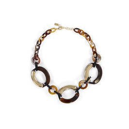ENVY TORTOISE SHELL LOOP CHAIN - Plus Size Collection