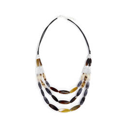 ENVY THREE STRAND TORTOISE SHELL NECKLACE - Plus Size Collection