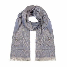 AHMADDY PURE WOOL SCARF GREY - Plus Size Collection