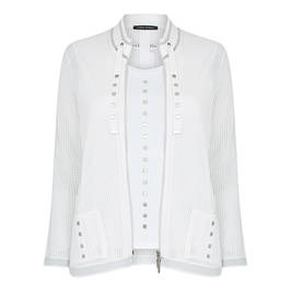 FABER TWINSET WHITE WITH STUD DETAIL - Plus Size Collection