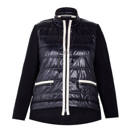 FABER PADDED JACKET BLACK - Plus Size Collection