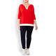 FABER SWEATER RED WITH PINK RACING STRIPE