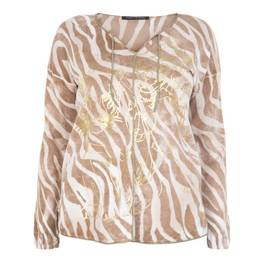 FABER ANIMAL PRINT SWEATER WITH GOLD DETAIL  - Plus Size Collection