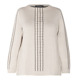 FABER KNIT SWEATER VANILLA  - Plus Size Collection