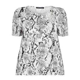FABER PYTHON PRINT T-SHIRT  - Plus Size Collection