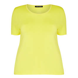 FABER YELLOW ROUND NECK T-SHIRT  - Plus Size Collection